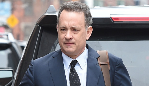 Tom Hanks leaves a meeting downtown in NYC.  Pictured: Tom Hanks