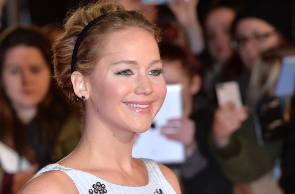 """LONDON, ENGLAND - NOVEMBER 10:  Jennifer Lawrence attends the World Premiere of """"The Hunger Games: Mockingjay Part 1"""" at Odeon Leicester Square on November 10, 2014 in London, England.  (Photo by Anthony Harvey/Getty Images)"""