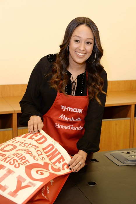 Tia Mowry Helped T.J.Maxx, Marshalls and HomeGoods Drum up Donations Ffor Their Partnership With Food Banks