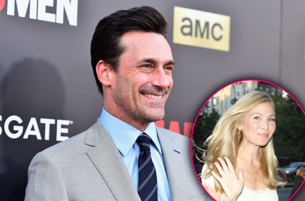 Back Together Jon Hamm's Girlfriend Moves Back In After Cozy Public Outing