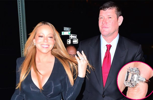 mariah carey engaged diamond engagement ring