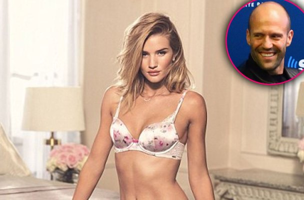 rosie huntington whiteley lingerie shoot engaged jason statham photos