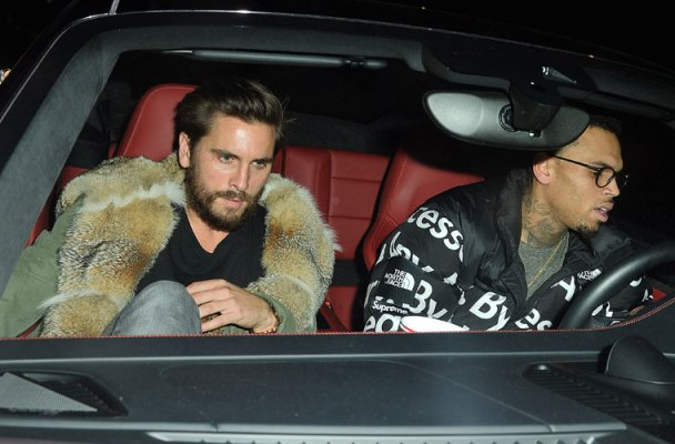 Scott Disick Rehab Parties Nice Guy Chris Brown