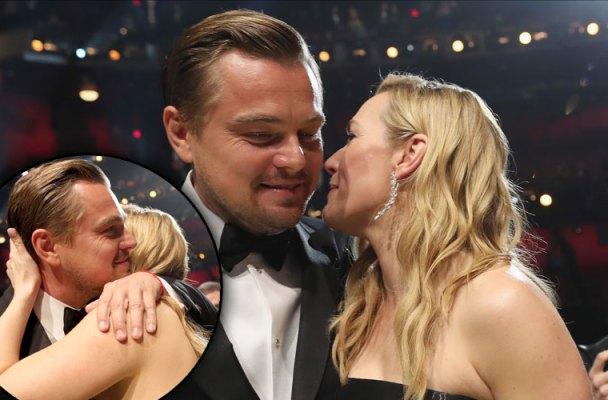 Kate Winslet Leonardo DiCaprio Pda Oscars