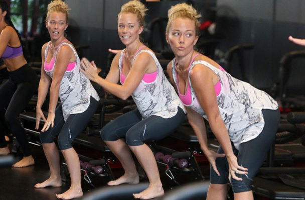 kendra wilkinson pilates class photos