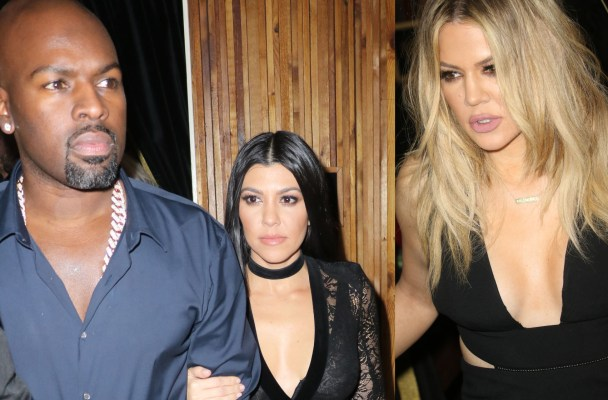 khloe-kardashian-kourtney-kardashian-corey-gamble-justin-bieber-party