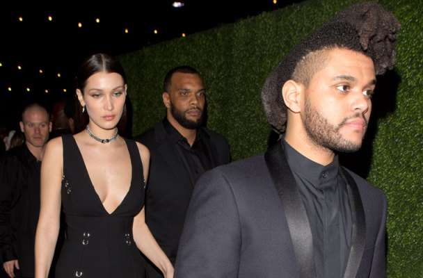 the weeknd bella hadid dating grammys 2016 after party pics