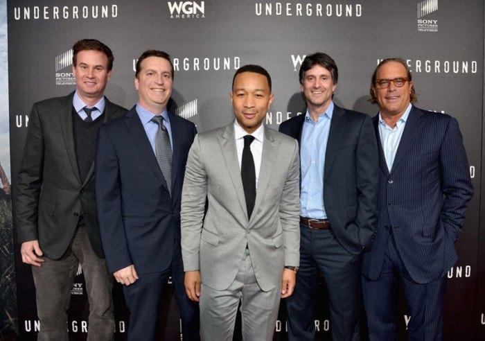 John-Legend,-Jamie-Erlicht-and-Steve-Mosko-Attend-the-WGN-America-'Underground'-World-Premiere