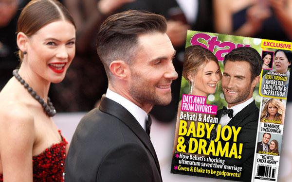Adam Levine Behati Prinsloo Pregnant Divorce Drama 2
