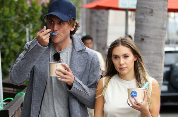 51995841 Jonathan Cheban takes his girlfriend Anat Popovsky out for a frozen yogurt in Beverly Hills on March 14, 2016. FameFlynet, Inc - Beverly Hills, CA, USA - +1 (310) 505-9876