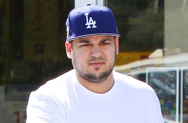 Calabasas, CA - Calabasas, CA - Rob Kardashian seems to be getting along well with Blac Chyna's family and her little son, and Tyga's, King Cairo. The trio were spotted leaving Toys R Us with a cart full of things and King Cairo hanging off the side while Rob pushed. He helped them get things in the car before he drove away.       AKM-GSI 23 MARCH 2016   To License These Photos, Please Contact :   Maria Buda  (917) 242-1505  mbuda@akmgsi.com  or    Steve Ginsburg  (310) 505-8447  (323) 423-9397  steve@akmgsi.com  sales@akmgsi.com