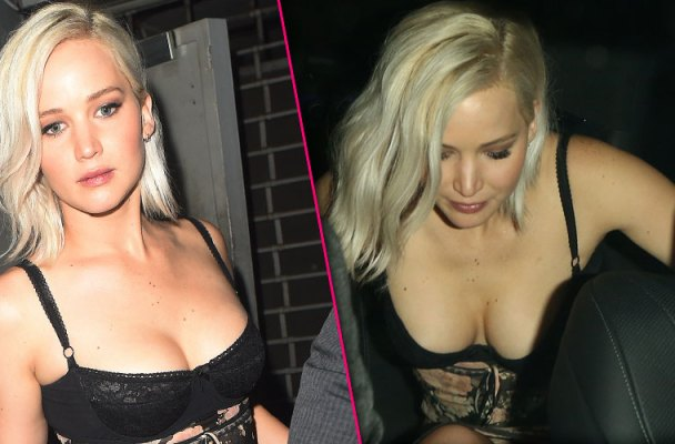 jennifer lawrence wardrobe malfunction boobs cleavage exposed pics