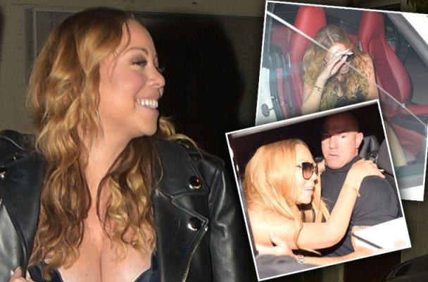 Mariah Carey Engaged Drunk Dress Cleavage