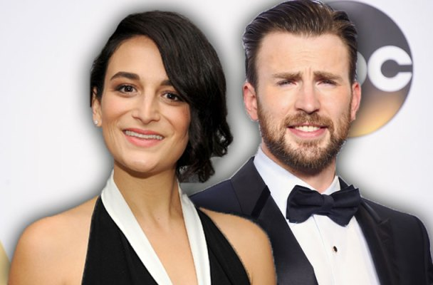 chris evans jenny slate dating red carpet