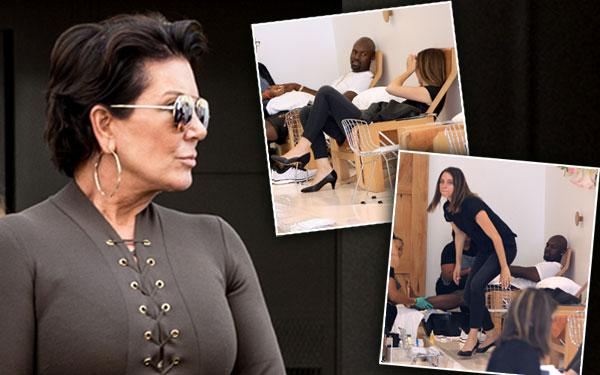 Corey Gamble Mystery Woman Butt ManiPedi Kris Jenner Weight Gain Pics 5