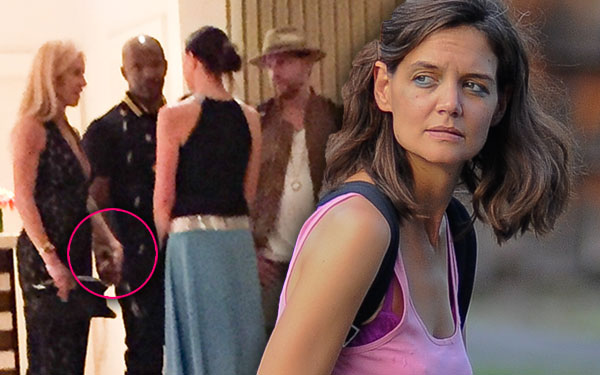Jamie Foxx Katie Holmes Relationship Engaged Cheating Scandal Holding Hands Mystery Woman Pics 5