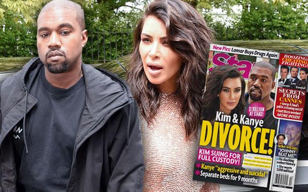 Kim Kardashian Kanye West Divorce Suing Custody Scandal 1