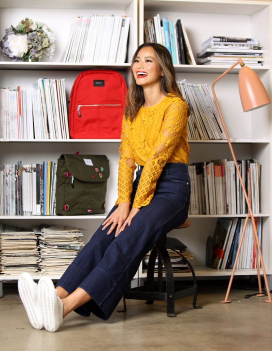 Behind the Scenes with Jamie Chung During her SHOPBOP.COMShoot