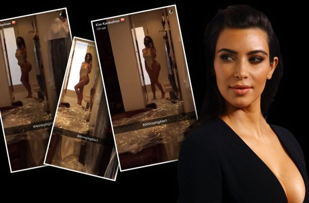 kim kardashian swimsuit selfie cailtyn jenner diss snapchat pics