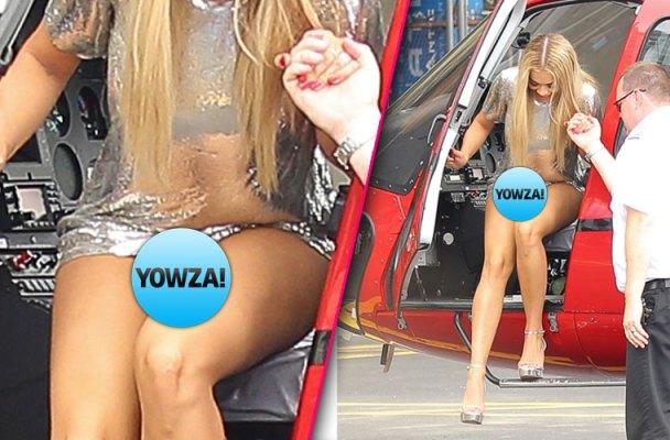rita ora wardrobe malfunction panties helicopter pics