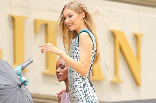 Gigi Hadid Photos -- Modeling In NYC