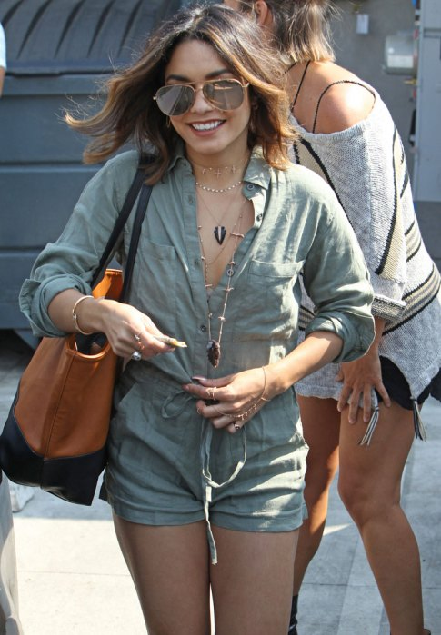 Vanessa Hudgens Stops By The Nine Zero One Salon