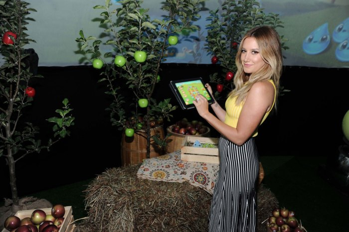 Ashely Tisdale At The launch of Farm Heroes Super Saga