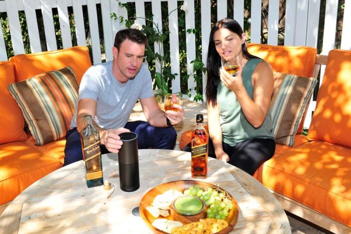 Scott Foley Enjoying a Johnnie Walker Whisky Tasting UsingAmazonAlexa