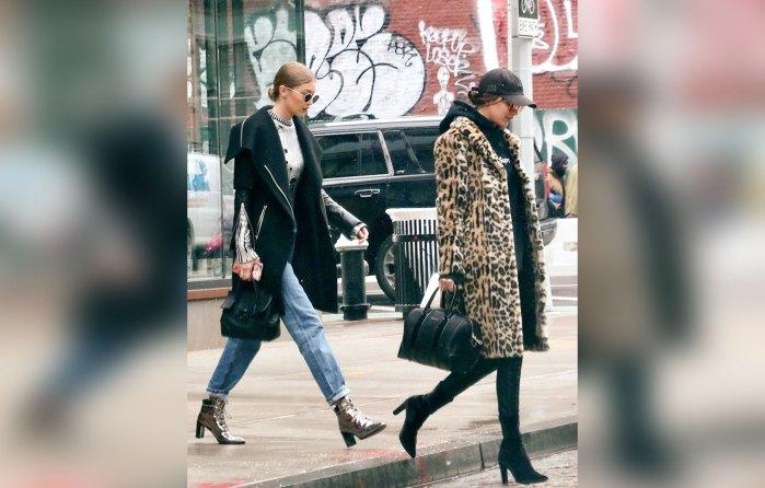 Gigi Hadid and Bella Hadid Out in theEastVillage