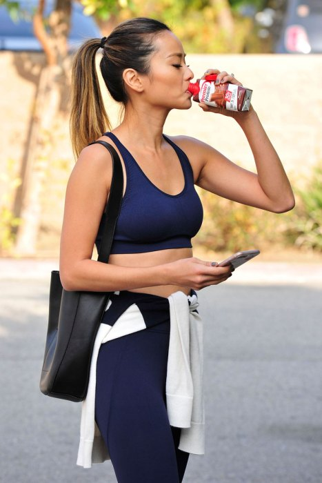 Jamie Chung Refuels with a Premier Protein Chocolate Shake AfteraWorkout