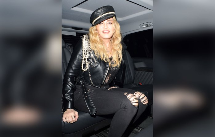 Madonna Makes New Adopted Twins Model Tracksuits For Fans