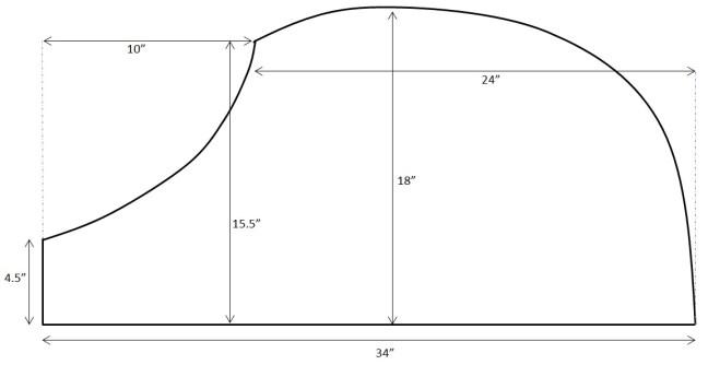 DIY Apron Tutorial Diagram Sizing