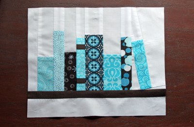 fabric bookshelf quilt block
