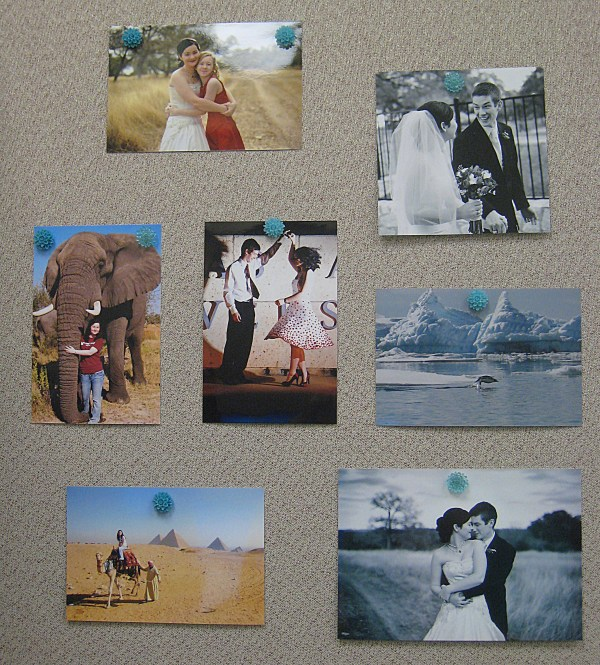 DIY Thumb Tack Photo Wall