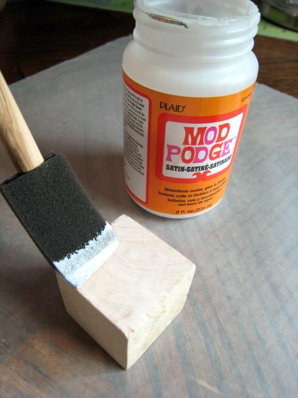 Mod Podge Photo Blocks