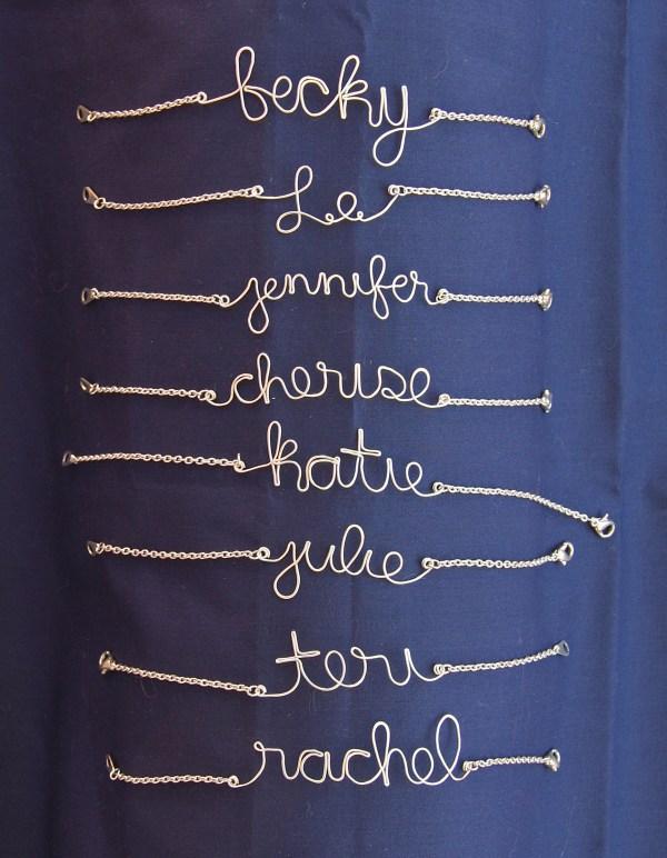 DIY Name Bracelets