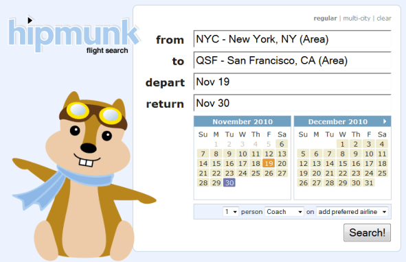 Hipmunk - Featured on StartUpLift