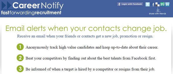CareerNotify - startup featured on StartUpLift