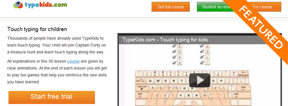 TypeKids - startup featured on startuplift for website feedback