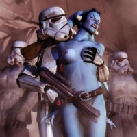 The two horny Jedi Padawans, Jaina Solo and Tenel Ka, do Jedi exercise nude outside the Jedi Academy.