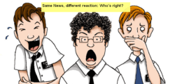 News flow and Reaction: A Powerful Lesson and Simple Illustration
