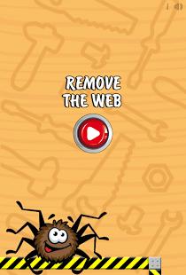 Remove the web