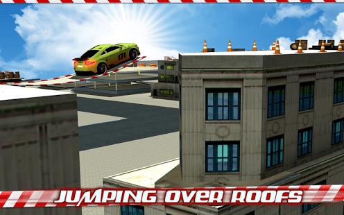 Crazy Car Roof Jumping 3D