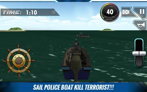 Navy Police Speed Boat Attack