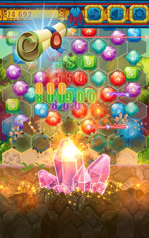 Jewels Miner Dash Hexagon