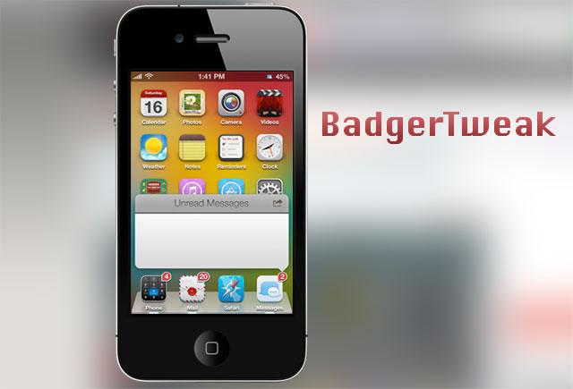 BadgerTWeak mang chế độ xem nhanh thông báo lên ứng dụng