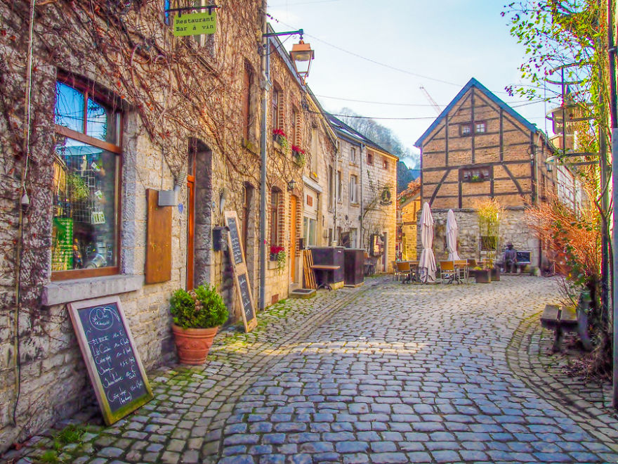 25 Most Beautiful Photos I Took Of My Birth Country Belgium Before     Cobbled Street in Durbuy