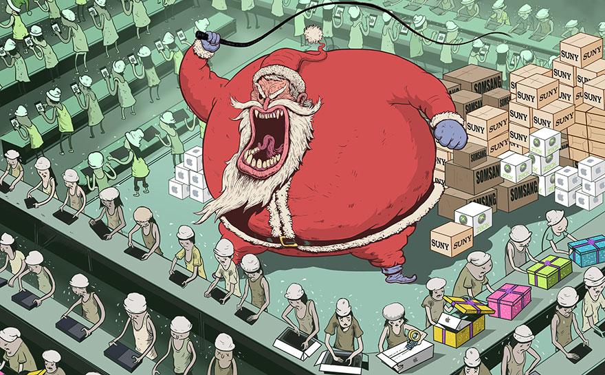współczesne światowe karykatura-ilustracje-steve-Cutts-15