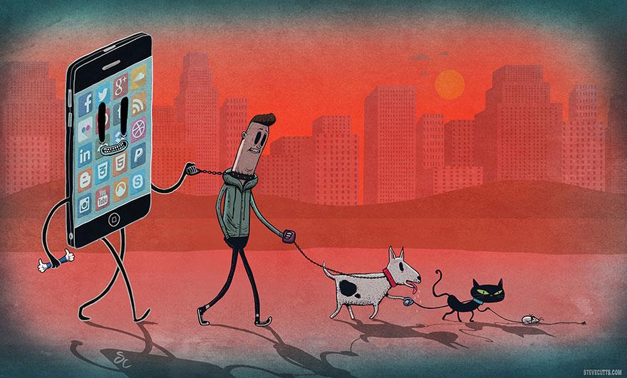 współczesne światowe karykatura-ilustracje-steve-Cutts-4