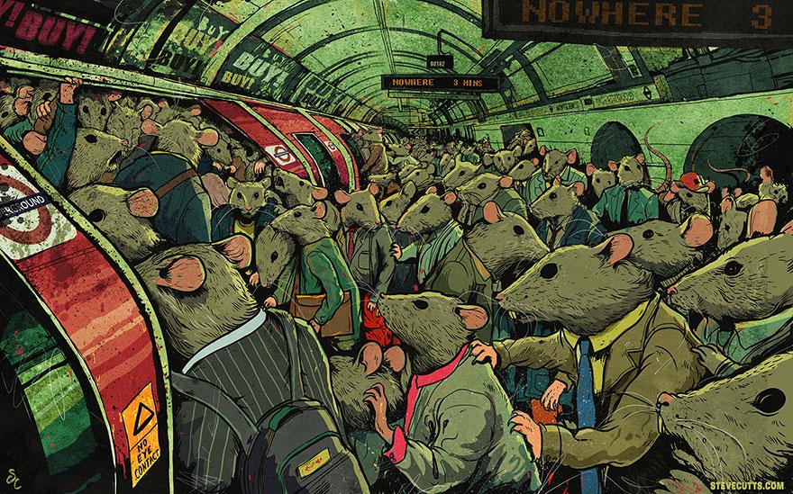 współczesne światowe karykatura-ilustracje-steve-Cutts-5